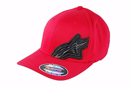 Alpinestars Mens CF ASTAR Flexfit Hat Motocross Baseball Cap L/XL (Red)