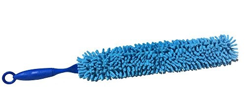 "Microfiber Duster - Car Duster & Home Multi-use Duster - Exterior and Interior Use - Lint Free - Double Sided - Bendable and Flexible - 25"" Long Detail Duster"