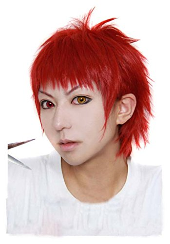 A1 MAX - Anime Costume Party Cosplay Short Curly Wig Red