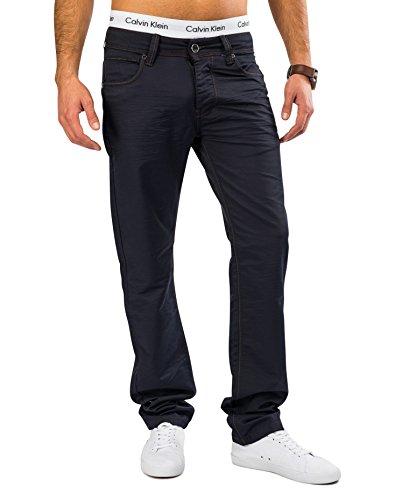 Herren Coated Denim Blau Glanz Stoffhose FRIDAY Nr.1615 Regular Fit, Farben:Blau;Größe Jeans / Hosen NEU:W32 Picture