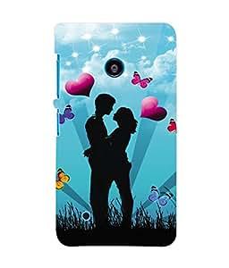 Fuson 3D Printed Valentine love Image Designer Back Case Cover for Nokia Lumia 530 - D688
