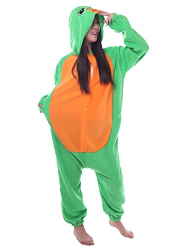 Honeystore Unisex Adult New Animal Cosplay Sea Turtle Costume Onesies Pajamas
