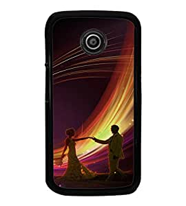 Fuson Premium Join To Dance Metal Printed with Hard Plastic Back Case Cover for Motorola Moto E