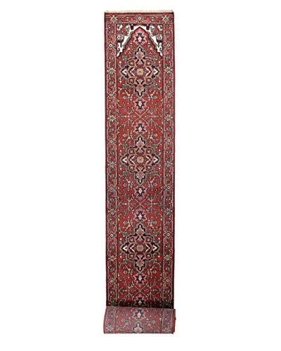 Bashian Rugs Hand Knotted One-of-a-Kind Indo-Herez Rug, Rust, 2' 7 x 24' Runner