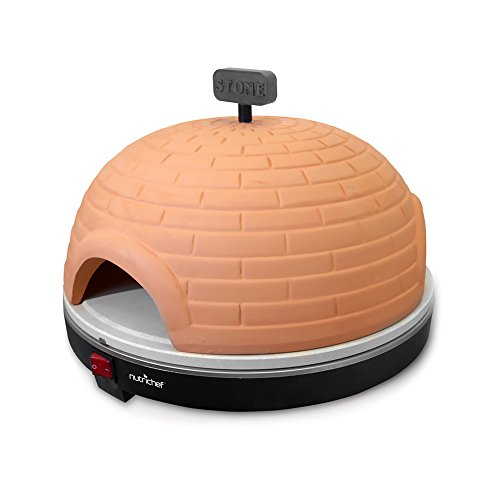 NutriChef PKPZ950 - Artisan Electric Pizza Oven with Brick Housing and Crisping Stone - Countertop Safe (Bakerstone Pizza Oven Box compare prices)