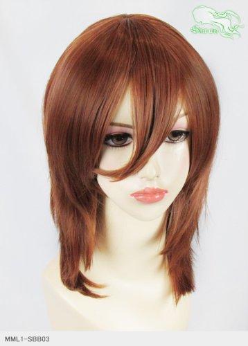 スキップウィッグ 魅せる シャープ 小顔に特化したコスプレアレンジウィッグ フェザーミディ ティラミス