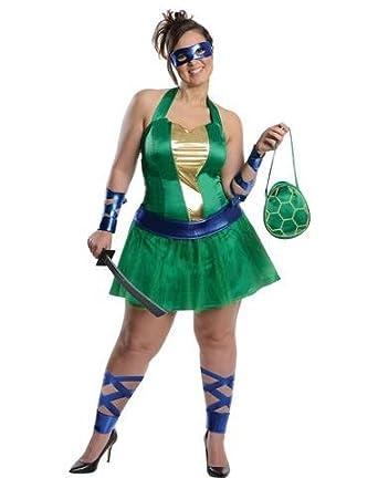 Rubies Costume Co Women's Teenage Mutant Ninja Turtles Leonardo Plus Size Costume Multicoloured XX-Large