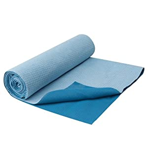 Gaiam Travel Yoga Mat, Blue