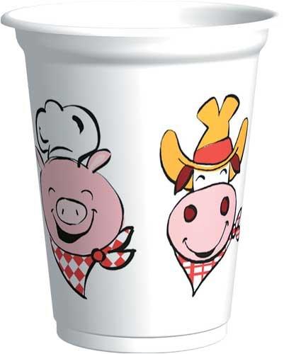 Backyard BBQ Plastic Cups