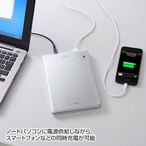サンワサプライ USB充電ポート付きノートパソコン用モバイルバッテリー BTL-RDC6