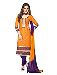 AASRI Women Cotton Unstitched Salwar Suit - B013M0VSBY