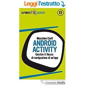 Android Activity: Gestire il flusso di navigazione di un'app (Sushi)