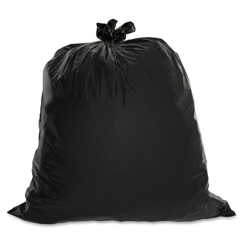 Heavy-Duty Trash Bags, 1.5 Mil, 40-45 Gallon, 50/BX, Black, Sold as 1 Box handi bag super value pack trash bags 30gal 69mil 36 x 29 5 black 60 box