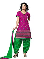 Trendz Apparels Pink Cotton Patiala Salwar Suit
