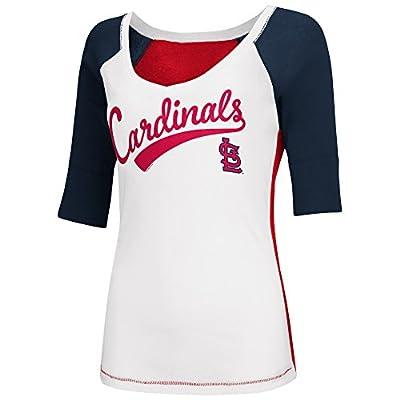St Louis Cardinals Women's Home Run V-neck T-shirt