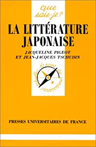 La littérature japonaise par Jean-Jacques Tschudin