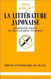 La litt�rature japonaise par Tschudin