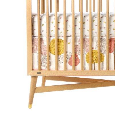 DwellStudio Canvas Crib Skirt, Treetops