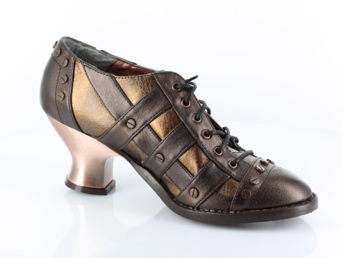 Hades Jade Neo Retro Steam Punk Heeled Shoes (3.5, Brown)