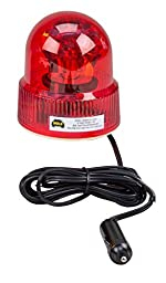 Wolo (3110-R) Beacon Light Rotating Emergency Warning Light - 12 Volt, Red Lens