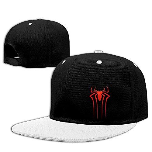 Custom Unisex-Adult The Amazing Spider Flat Bill Baseball Hats Caps White