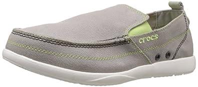 Crocs Men's Walu Relaxed Slip On,Light Grey/White,7 M Us