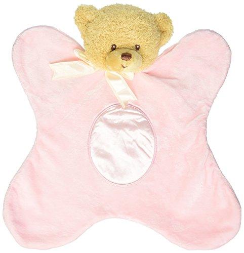 """Gund Baby Satineesnug Plush, Teddi Pink, 13"""" front-607461"""