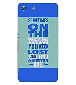 SONY XPERIA M5 DUAL QUOTE Back Cover by PRINTSWAG