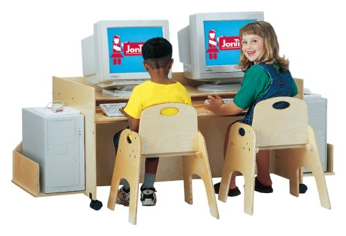 Buy Low Price Comfortable Kydz Computer Desk – Double – School & Play Furniture (B002LTHB82)