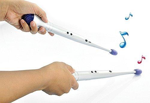 Anpress-Creative-Children-Lightweight-Rhythm-Sticks-Electronic-Rock-Beat-Rhythm-Drum-Sticks-Air-Drumsticks-for-Children-Toy-Musical-Instrument-Silver