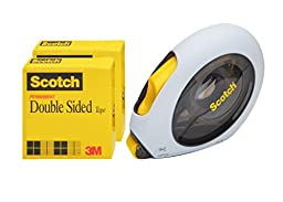 Scotch Double Sided Tape Applicator Value Pack, 2 Rolls, 1/2 x 500\