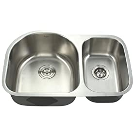 Kraus Stainless Steel 30 inch Undermount 16 gauge Double Bowl Kitchen Sink