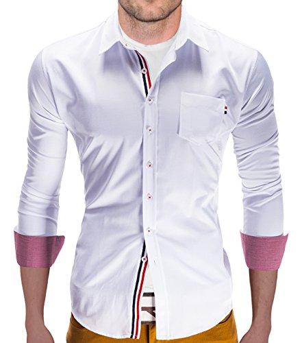 Camicia a maniche lunghe BetterStylz Felix Slim Fit per il tempo libero camicie Buiseness dinotech 3 COLORI (S-XL)