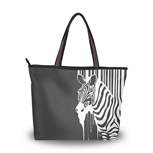 Women's New Fashion Handbag Shoulder Bags,Cool Zebra Pattern,Tote Bag L (Personalized Zebra Garment Bag compare prices)