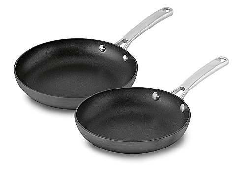 Calphalon 1943335 2 Piece Classic Nonstick Fry Pan Set, Grey
