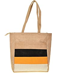 Saran Jute Bags Women's Multi Color Jute Handbag (SJB_51)