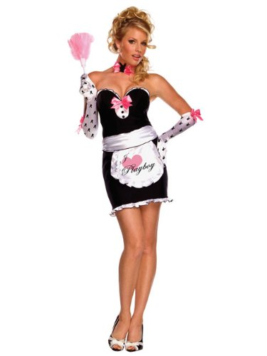 Playboy Mansion Maid Dressing Up Costume – Medium