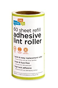 Honey-Can-Do LNTZ01589 Lint Roller Refill, Large, 6-Pack, 60-Sheets Each, 360-Sheets Total