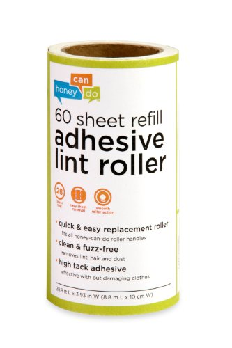 Honey-Can-Do LNTZ01589 Lint Roller Refill, Large,