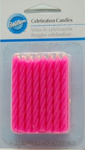 Pink Birthday Candles - 24 Pack - 1