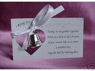 Silver Wedding Mini Bell Decorations Favors (Set of 100)