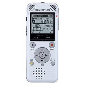 OLYMPUS ボイスレコーダー VoiceTrek 4GB 高音質リニアPCM FMチューナー V-802 WHT ホワイト