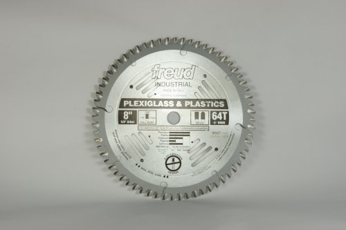 Freud LU94M008 8-Inch 64 Tooth MTCG Plexiglass Cutting Saw Blade with 5/8-Inch Arbor