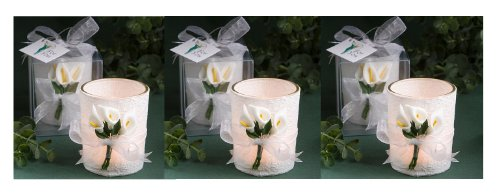 Stunning Calla Lily Design Candle Favors (Set Of 6)