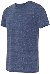 Canvas Polyester/Cotton Unisex T-Shirt, S, Navy Marble