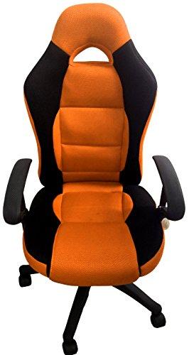 ORANGE SCHWARZ Drehstuhl Bürostuhl Chefsessel Schreibtischstuhl Racing Sportlich Markenware von COLLANI