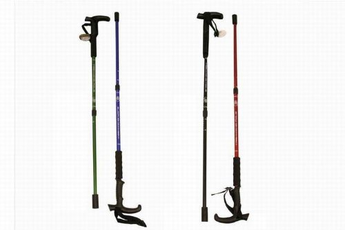 OUT THERE 2 SECTION TELESCOPIC WALKING STICK ONE OF 4 COLOURS