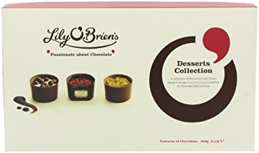 Lily O'Brien's Desserts Collection Assorted Collection of Finest Milk Dark and White Chocolate Dessert Recipes (Pack of 2)