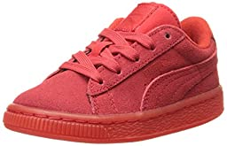 PUMA Suede Iced Kids Sneaker (Toddler/Little Kid/Big Kid) , High Risk Red/White, 13.5 M US Little Kid