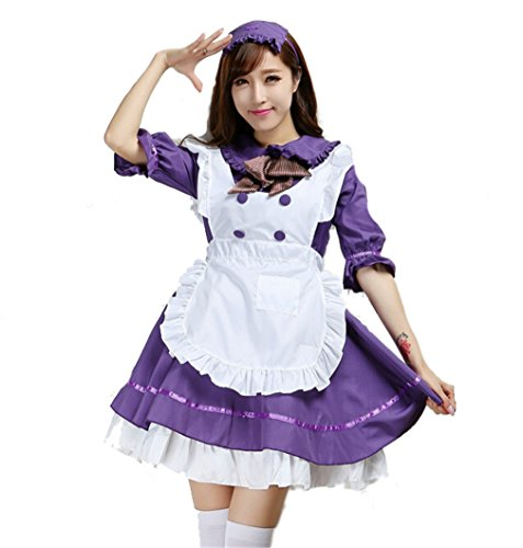 Bonamana Women's Anime Cosplay French Apron Maid Fancy Dress Costume